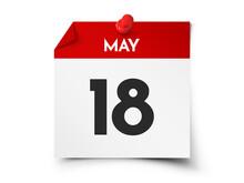May 18 Day Calendar