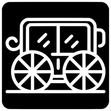 Brougham Icon Outline Style Vector Outline, Black, Brougham, Icon, Style, Vector, Design, Isolated, Symbol, White, Illustration, Chariot