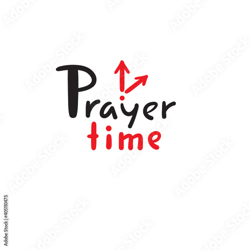 Fototapeta Prayer time - inspire motivational religious quote