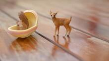 Close-up Of Animal Figurine On Table