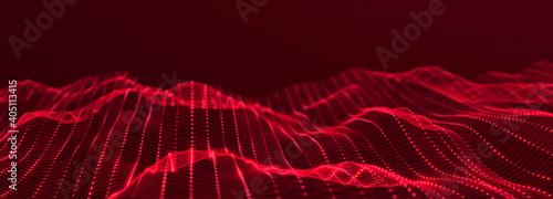 Fototapeta Digital technology background. Network connection. Futuristic background for presentation design. 3d rendering. obraz