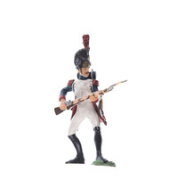 Figurine Of Napoleonic French Soldier Isolated On White Background