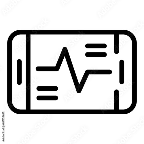 Fotografija Track activity phone icon