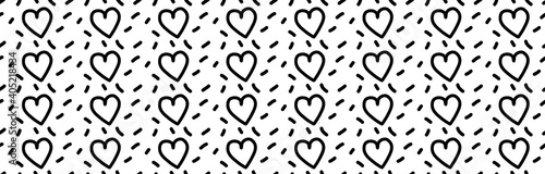 Hearts pattern. Valentine's Day. The 14th of February. Seamless pattern. Vector illustration EPS 10
