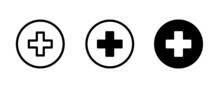 Medical Plus Icon Symbol, Medical Assistance Cross Hospital Ambulance And Medicine Health Care, Medicinal And Pharmacy, First Aid