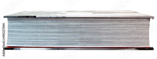 Side view of pages of hardback book. Fototapeta