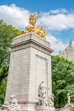 USS Maine National Monument At Central Park Manhattan New York City