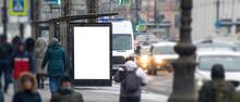 Outdoor Advertising Layout. Billboard Vertical