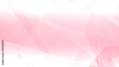 Photo Abstract pink white polygon triangle pattern gradient background