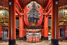 Japan, Tokyo, Asakusa, Senso-Ji Temple, Entrance Under Paper Lantern