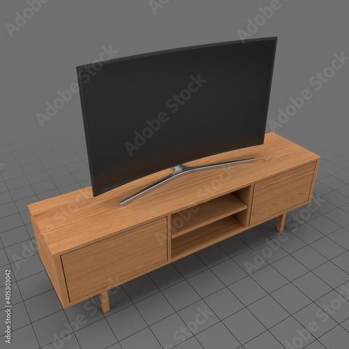 Obraz TV on cabinet - fototapety do salonu