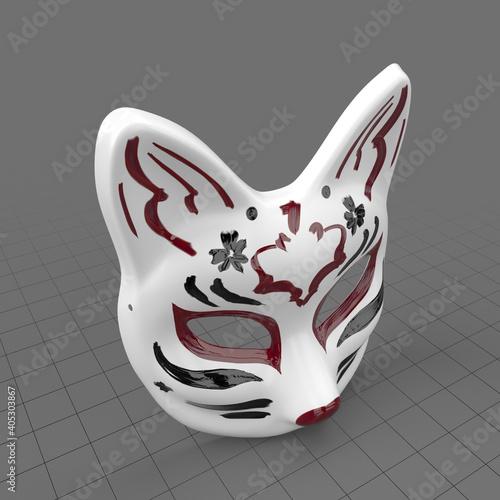 Fototapeta Kitsune mask obraz