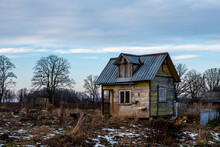 There Is A Small Abandoned House In The Territory Of Small Gardens
