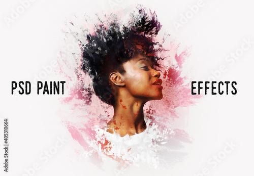 Fototapeta Painting Photo Effect Mockup obraz