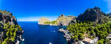 Scenic View Of Mallorca, Torrent De Pareis, Sierra De Tramuntana, Balearic Islands, Spain