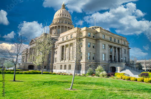 Closeup shot of the Idaho State Capitol Building