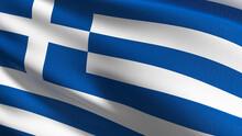 Full Frame Shot Of Greek Flag