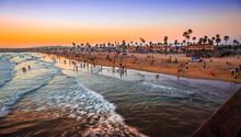 Sunset On The Beach, Newport Beach, California