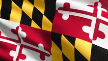 Full Frame Shot Of Maryland Flag