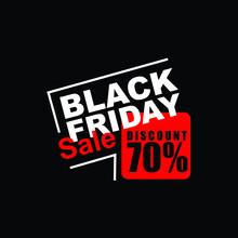 Black Friday Logo Vector