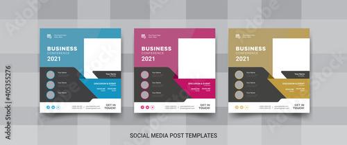 Fotomural Business conference social media post, social media promotional banner design