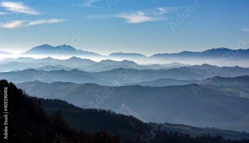 Obraz Scenic View Of Mountains Against Sky - fototapety do salonu