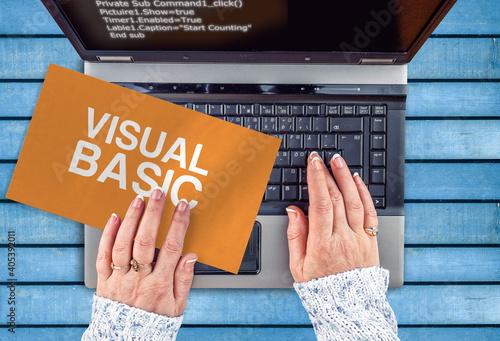 Billede på lærred Visual Basic programming language