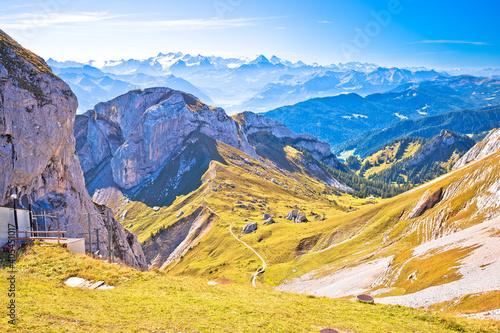 Fototapeta Pilatus Alps mountain peaks view