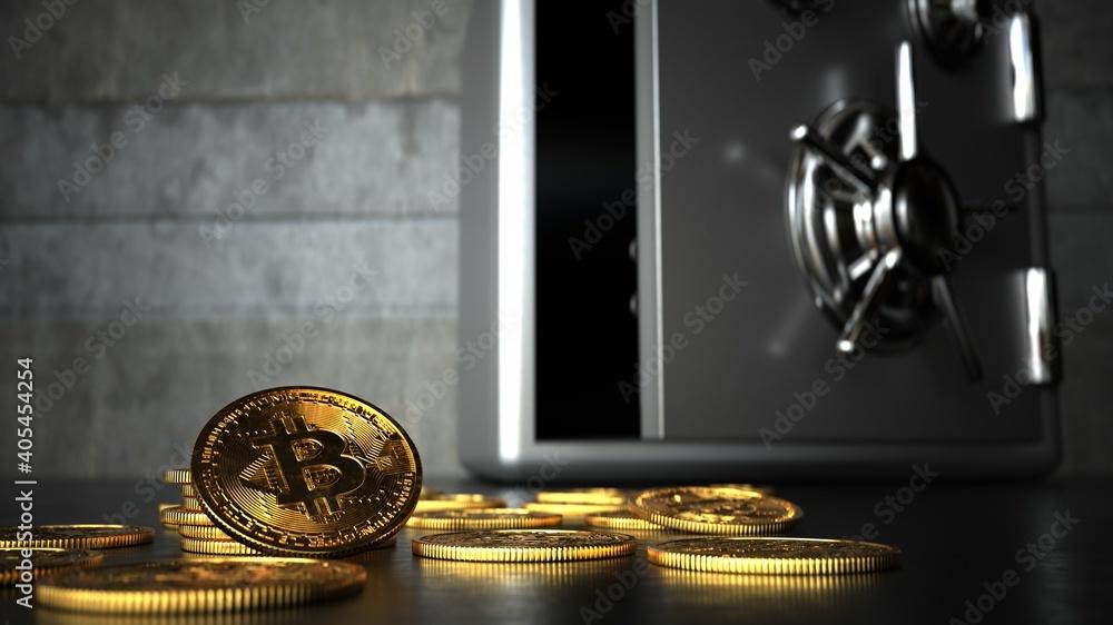 Fototapeta Bitcoin Safety