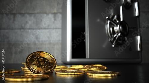 Fotografie, Obraz Bitcoin Safety