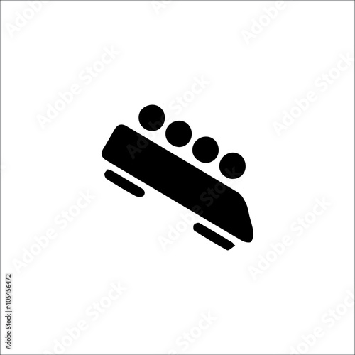Foto Winter sports bobsleigh vector icons