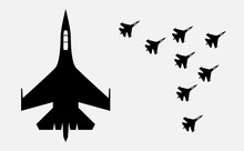 Airplane ,military Airplanes Silhouette - Vector Illustration EPS10.