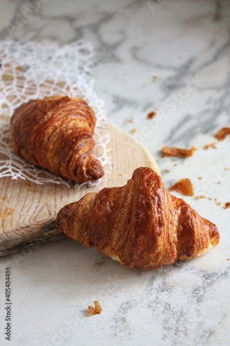 Croissants On Marble