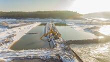 Przekop Mierzei Wiślanej, Kanał Żeglugowy Zimą
