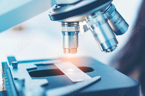 Canvastavla Close-up Of Microscope