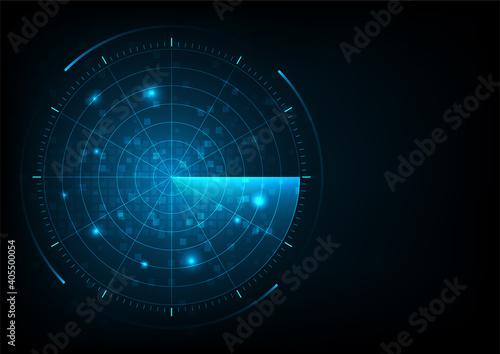 Radar Against Black Background