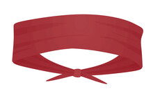 Red Sport Head Band. Vector Illustration