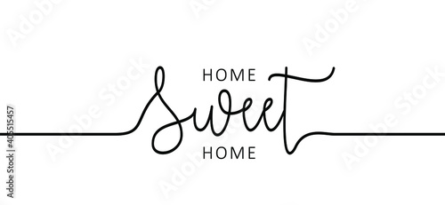 Canvas Print Slogan Home sweet home, home is where the heart is or home is where your heart is