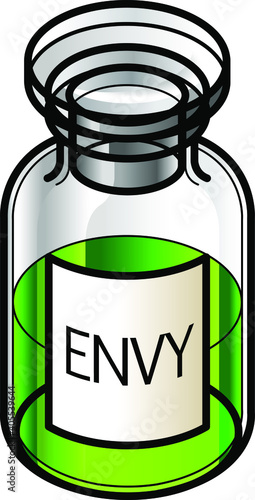 Fototapeta A reagent bottle of Envy