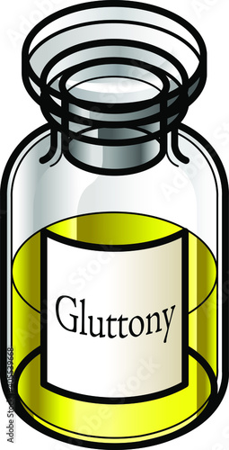 Fotografie, Obraz A reagent bottle of Gluttony