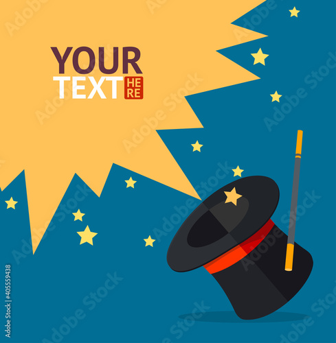 Vector magic hat background for text Fototapete