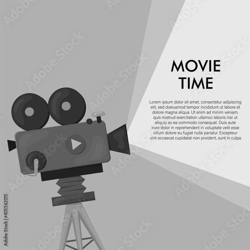 Fototapeta Retro style international movie festival poster template