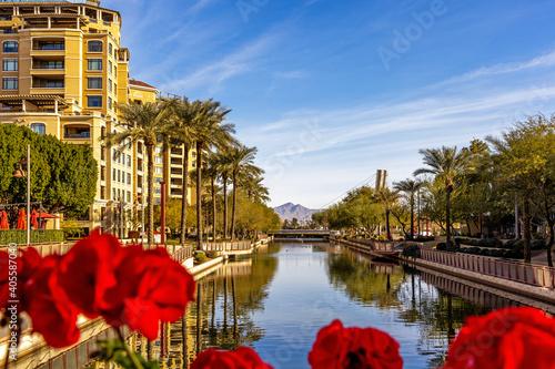 Scottsdale Arizona Waterfront Canal Scene