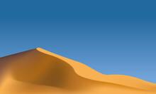 Vectorial Desert And Sand Dunes.