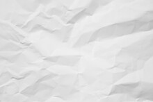 Full Frame Shot Of White Crumbled Paper