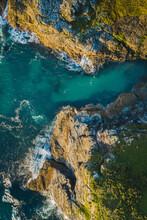 Aerial View Of Rock Valley, Tintagel, Cornwall, United Kingdom