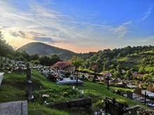Cemetary With Beautiful View