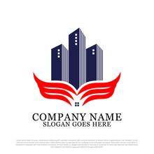 Military Building Logo Design Inspiration, Wing Apartment Logo Template