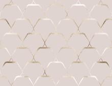 Geometric Seamless Pattern Gold Diamond Tiles.
