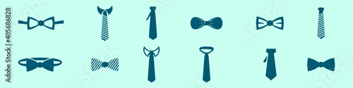 set of cravat cartoon icon design template with various models Wallpaper Mural